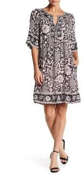 Calypso St. Barth Raenill Print Silk Dress