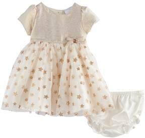 Nannette Baby Girl Gold Star Dress