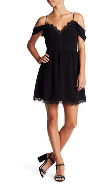 WAYF Addison Cold-Shoulder Minidress