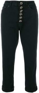 Dondup embellished high waisted trousers