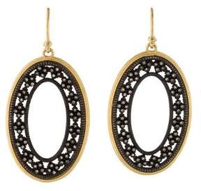 Armenta Two-Tone Diamond Old World Large Open Oval Roped Cravelli Earrings