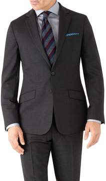 Charles Tyrwhitt Charcoal Slim Fit Performance Suit Wool Stretch Jacket Size 36