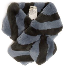 FENDI Striped rabbit-fur collar