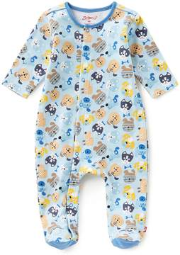 Zutano Baby Boys Newborn-6 Months Dog-Print Footed Coverall