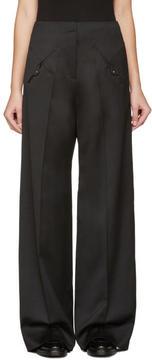 Esteban Cortazar Black Straight-Leg Trousers