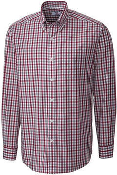 Cutter & Buck Red Plaid Epic Easy-Care Button-Up - Men