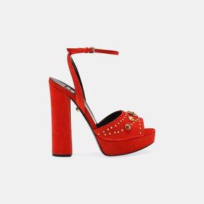 Fausto Puglisi Open Toe Suede Platform Sandal