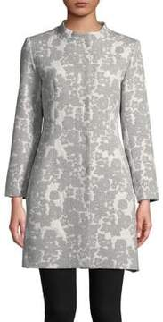 Cinzia Rocca Icons Collarless Floral Jacquard Jacket