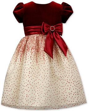 Jayne Copeland Velvet-Bodice Glitter Gown, Little Girls (4-6X)