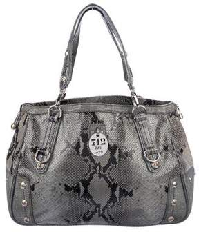 Henri Bendel Embossed 712 Fifth Ave Bag