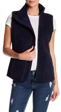 Dee Elly Fuzzy Funnel Neck Vest