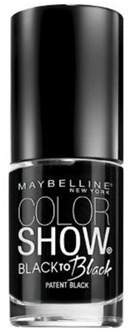 Maybelline Color Show Back To Black Nail Polish, 700, Patent Black.