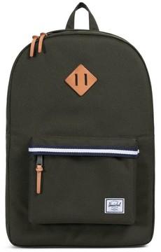 Herschel Men's Heritage Offset Stripe Backpack - Green