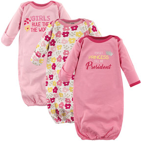 Luvable Friends Pink 'Girls Rule the World' Gown Set - Newborn