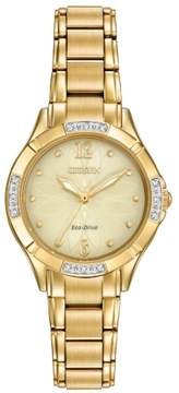 Citizen Eco-Drive EM0452-58P Gold/Gold Stainless Steel Analog Women's Watch