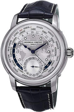 Frederique Constant FC718WM4H6 Classics Manufacture stainless steel and leather watch