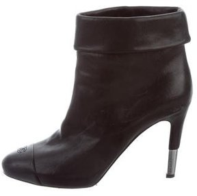 Chanel Leather CC Ankle Boots