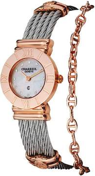Charriol St Tropez Mother of Pearl Diamond Dial Two Tone Ladies Watch