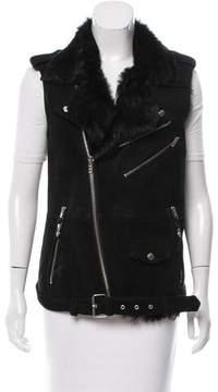 BLK DNM Shearling Moto Vest
