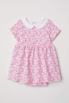 H&M Jersey Dress with Bodysuit - Pink