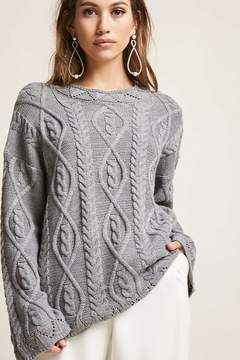 Forever 21 Scalloped Cable-Knit Sweater
