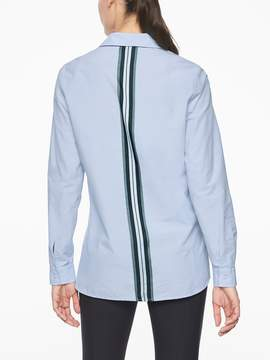 Athleta Marinwood Stripe Poplin Shirt