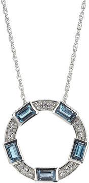 Elizabeth Showers London Blue Topaz Pendant Necklace
