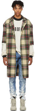 Fear Of God Multicolor Wool Plaid Overcoat