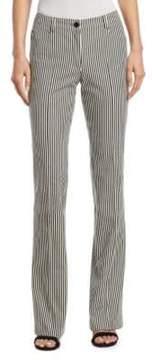Akris Punto Faye Striped Denim Pants