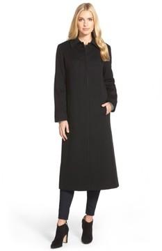 Fleurette Women's Point Collar Long Cashmere Coat