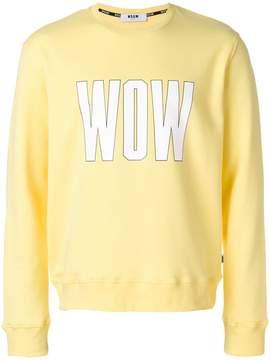 MSGM Wow print sweatshirt