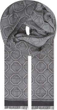 Eton Geometric modal and cotton-blend scarf