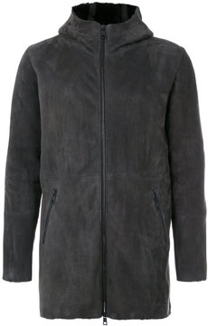 Giorgio Brato panelled hooded coat