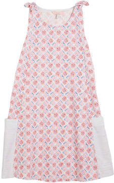Joules Coral-Print Sleeveless Cotton Dress, Size 3-10