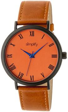 Simplify The 2900 Collection SIM2907 Unisex Watch with Leather Strap