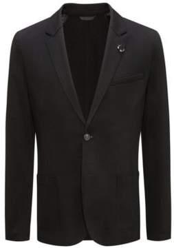 HUGO Boss Open Cut Jersey, Extra Slim Fit 'Ardis' 38R Black