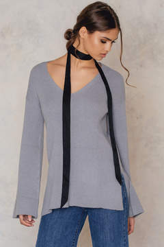 NA-KD Na Kd Wide Sleeve Knitted Tunic