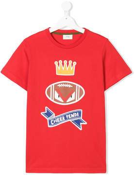 Fendi Kids Teen cheer T-shirt