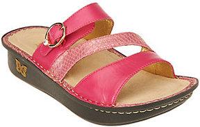 Alegria As Is Leather Slide Triple Strap Sandals - Colette