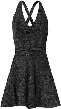 Cushnie et Ochs Deep-V Fit-and-Flare Dress