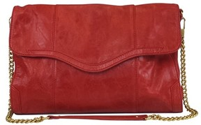 Rebecca Minkoff Red Fold Over Purse w/ Gold Chain - RED - STYLE