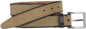 Johnston & Murphy Stitched Suede Belt