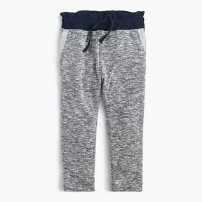J.Crew Girls' lightweight jersey sweatpants with contrast waistband