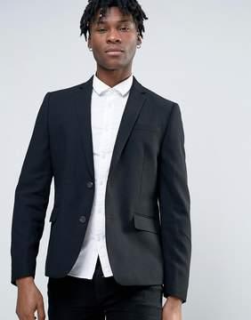 Minimum Waffle Wool Blend Slim Fit Suit Jacket