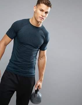 New Look SPORT Seamless T-Shirt In Dark Blue