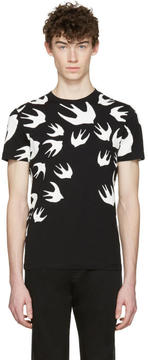 McQ Black Swallows T-Shirt