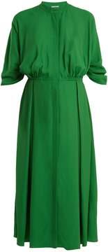 Emilia Wickstead Moya band-collar pleated twill dress