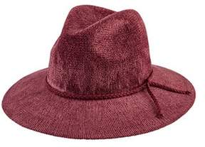San Diego Hat Company Women's Knit Fedora With Braided Faux Suede Trim Cth8078.