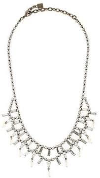 Dannijo Crystal & Faux Pearl Collar Necklace