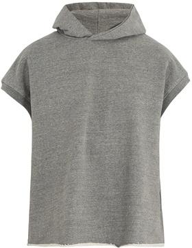 Fear Of God Cap-sleeved cotton-blend hooded sweatshirt